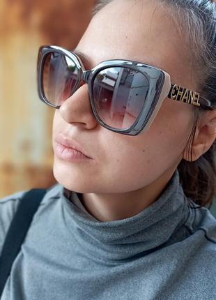 Стильные крупные очки оправа цвета кофе с молоком италия4 фото