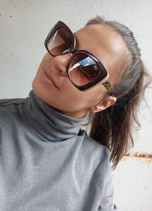 Стильные крупные очки оправа цвета кофе с молоком италия5 фото