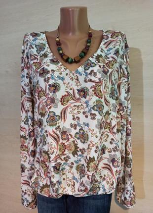 Легкая  блуза кофта рубахав цветы от esprit