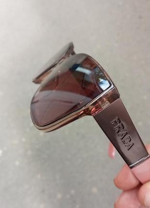 Стильные женские очки в прозрачной оправе с широкой дужкой8 фото