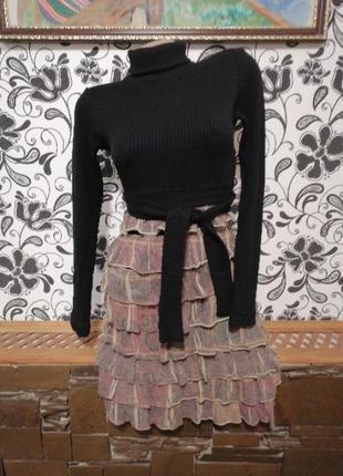Женское платье миди трикотажное