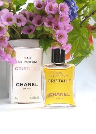 Миниатюра cristalle от chanel,4 мл, парфюмированная вода