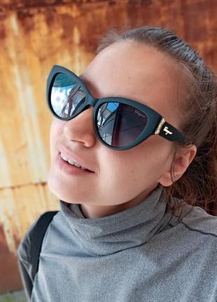 Стильные очки кошки очки лисички стиль одри хепбёрн матовая оправа поляризация6 фото
