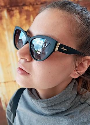 Стильные очки кошки очки лисички стиль одри хепбёрн матовая оправа поляризация8 фото