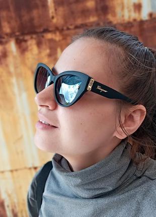 Стильные очки кошки очки лисички стиль одри хепбёрн матовая оправа поляризация3 фото