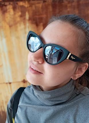 Стильные очки кошки очки лисички стиль одри хепбёрн матовая оправа поляризация4 фото