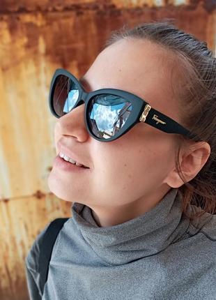Стильные очки кошки очки лисички стиль одри хепбёрн матовая оправа поляризация7 фото