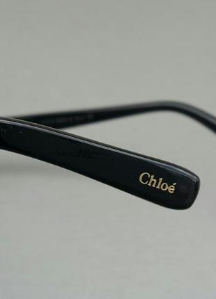 Chloe очки женские солнцезащитные очень большие черно серые с градиентом4 фото