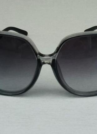 Chloe очки женские солнцезащитные очень большие черно серые с градиентом2 фото