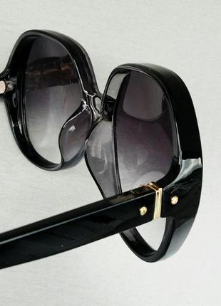 Chloe очки женские солнцезащитные очень большие черно серые с градиентом8 фото