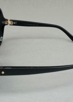 Chloe очки женские солнцезащитные очень большие черно серые с градиентом3 фото