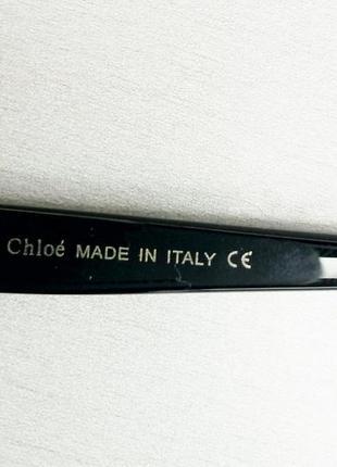 Chloe очки женские солнцезащитные очень большие черно серые с градиентом6 фото