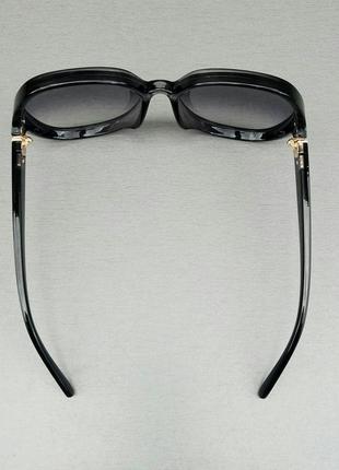 Chloe очки женские солнцезащитные очень большие черно серые с градиентом5 фото