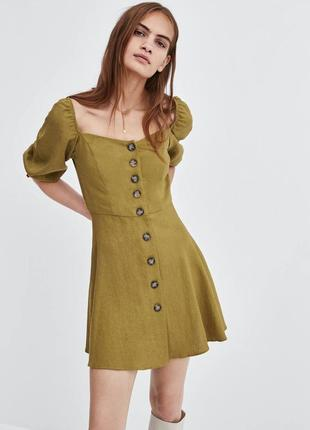 Платье из льна zara