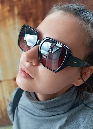 Стильные женские очки шестиугольники 3 категория защиты cat3