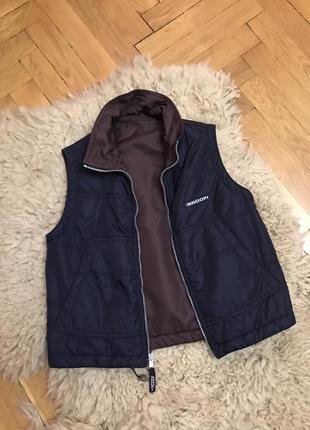 Двухстороняя жилетка женская,жіноча безрукавка жилетка куртка,жилетка zara безрукавка