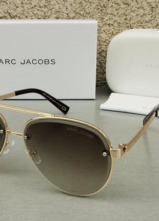 Marc jacobs очки капли унисекс коричневые в золоте с градиентом