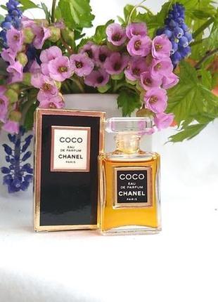 Миниатюра coco eau de parfum от chanel, 4 мл, парфюмированная вода