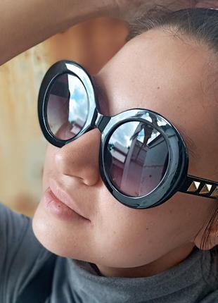 Стильные круглые очки с шипами стиль вне времени3 фото