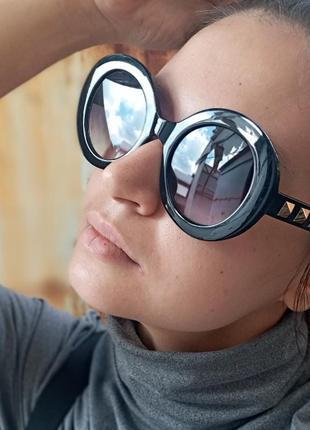 Стильные круглые очки с шипами стиль вне времени4 фото