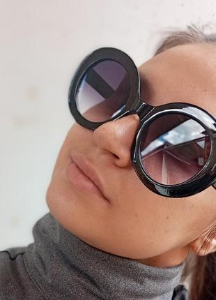 Стильные круглые очки с шипами стиль вне времени5 фото