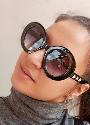 Стильные круглые очки с шипами стиль вне времени6 фото