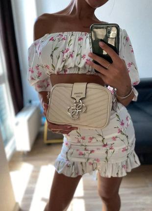❤ женская бежевая сумка сумочка ❤7 фото