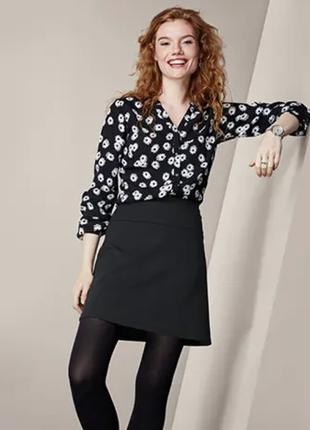 Классическая черная юбка s 36/38 евро тсм tchibo.