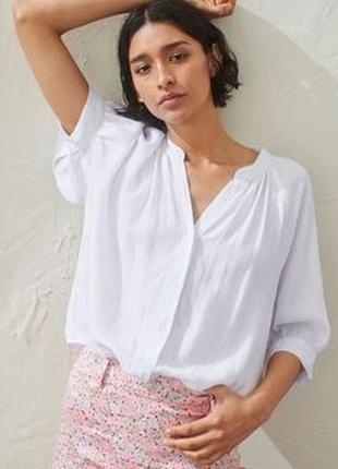H&m белая блузка , м