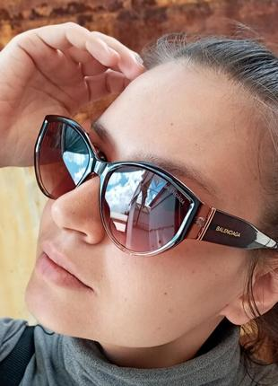 Стильные очки кошки в коричневой оправе италия3 фото