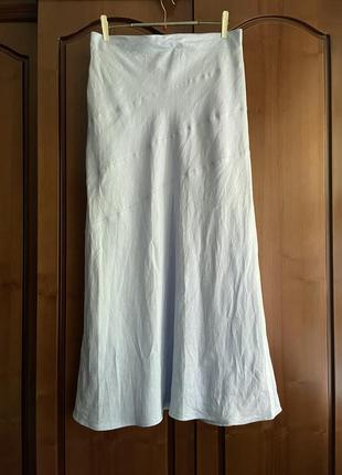 Льняная юбка миди макси