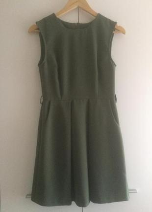 Платье на каждый день темно зелёное oasis силуэт нью лук