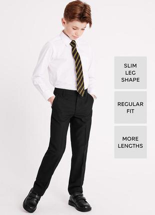 Черные школьные брюки marks&spencer (маркс и спенсер)на 6-7 лет на рост 122 см