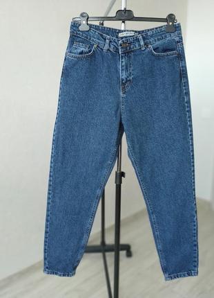 Женские базовые женские джинсы мом 38-40 р - 100 % натуральная ткань