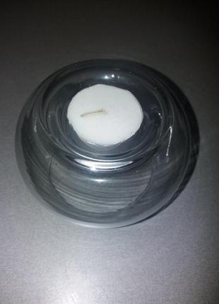 Подсвечник стеклянный для стандартной водяной свечки
