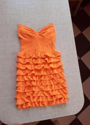 🧡🧡🧡яркое красивое платье резинка💥💥💥