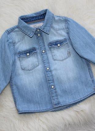 Поделиться:  джинсовая рубашка h&m / 6 - 9 м ( джинсова сорочка )