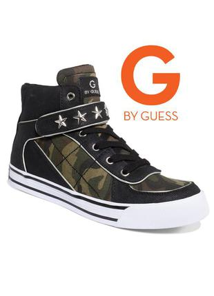 Guess оригинал сникерсы кеды кроссовки хайтопы камуфляж милитари бренд из сша