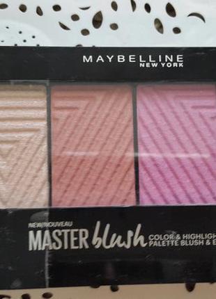 Палетка румян master blush maybelline