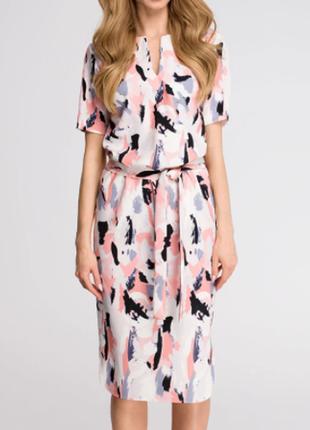 Літня сукня з арт принтом