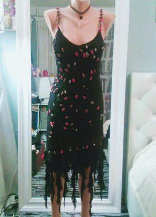 Вечернее платье-сарафан латина для танцев cache