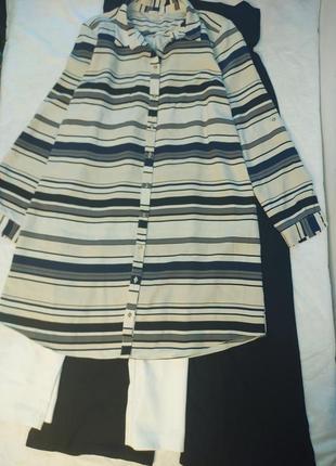 Платье 👗 рубашка в полоску