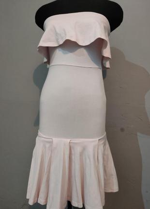Платье миди с воланами