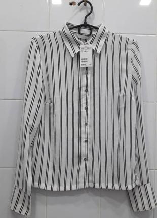Стильная блуза рубашка в полоску