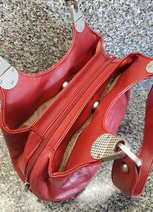 Кожаная сумка casa di borse италия натуральная кожа эко кожа4 фото