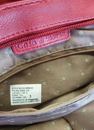 Кожаная сумка casa di borse италия натуральная кожа эко кожа6 фото