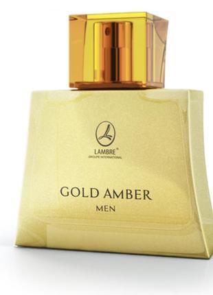 Чоловіча туалетна вода lambre gold amber men/туалетная вода  gold amber