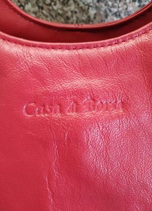 Кожаная сумка casa di borse италия натуральная кожа эко кожа9 фото