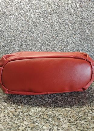 Кожаная сумка casa di borse италия натуральная кожа эко кожа7 фото