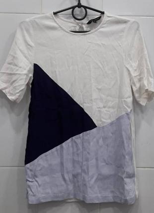 Комбинированная шифоновая блуза футболка